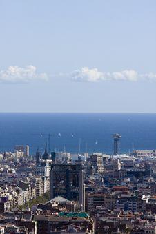 Free Barcelona Panoramic View Stock Photos - 6903683