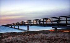 Free Bridge At Night Stock Image - 6903771