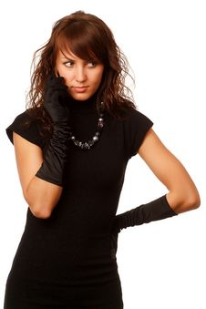 Free The Girl In Black Clothes Stock Photo - 6903800