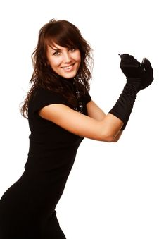 Free The Girl In Black Clothes Royalty Free Stock Image - 6903806