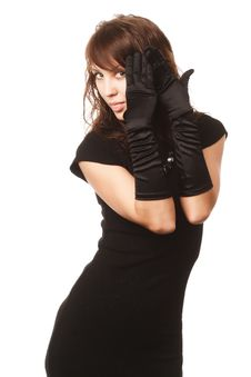 Free The Girl In Black Clothes Royalty Free Stock Image - 6903886