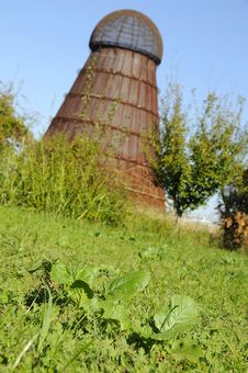 Isolated Silo 2 Royalty Free Stock Photography