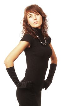Free The Girl In Black Clothes Stock Photography - 6904392