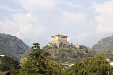 Castle In Italy, Aosta Royalty Free Stock Images