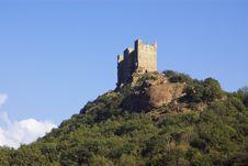 Castle In Italy, Aosta Stock Image
