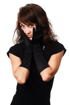 Free The Girl In Black Clothes Royalty Free Stock Photography - 6904577