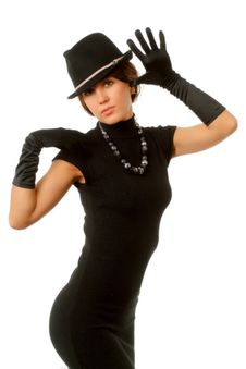 Free The Girl In Black Clothes Royalty Free Stock Photos - 6904728