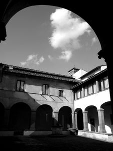 Ancient Cloister Royalty Free Stock Image