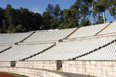 Free Empty Stadium With Lots Of Chairs Royalty Free Stock Photo - 6905015