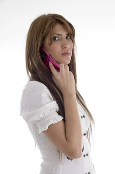 Free Woman Talking On Cell Phone Stock Photos - 6905153