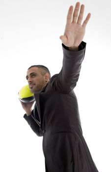 Male With Rugby Ball Royalty Free Stock Photos