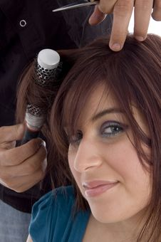 Free Female Taking Haircut Royalty Free Stock Photos - 6905448
