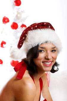 Free Smiling Christmas Woman Royalty Free Stock Photography - 6905517