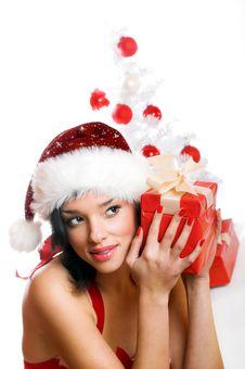 Free Smiling Christmas Woman Royalty Free Stock Photo - 6905675