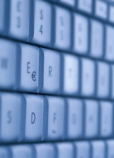 Free Blue Buttons Of The Keyboard Royalty Free Stock Image - 6905846