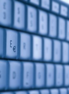 Free Blue Buttons Of The Keyboard Stock Image - 6905851