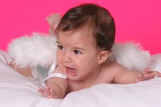 Baby With Angel Wings Royalty Free Stock Photography