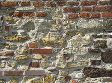 Stone And Brick Wall Royalty Free Stock Photo