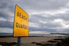 Free Beash Guard Sign Stock Images - 6906424