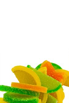Colorful Fruit Candies Stock Photo