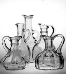 Oil & Vinegar Bottles Royalty Free Stock Photography