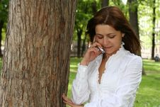 Free Woman Is Talking By Mobile Royalty Free Stock Photo - 6907505