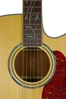 Acoustic Guitar Close-up Royalty Free Stock Photos