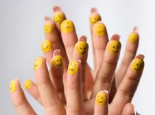 Free Painted Smilies On Fingertips Stock Images - 6907844