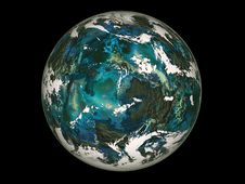 Blue Planet. Stock Photos