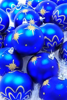 Free Blue Ornaments Stock Photography - 6909032