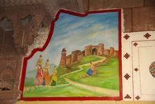 Mural Painting, Rajasthan Royalty Free Stock Images
