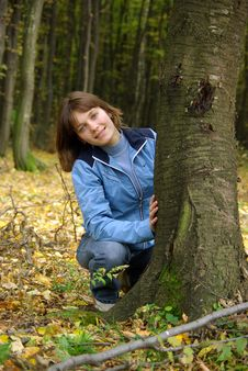 Free Girl In The Forest. Stock Photography - 6909182
