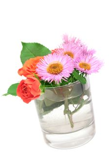 Free Flowers In A Glass. Royalty Free Stock Photography - 6909247