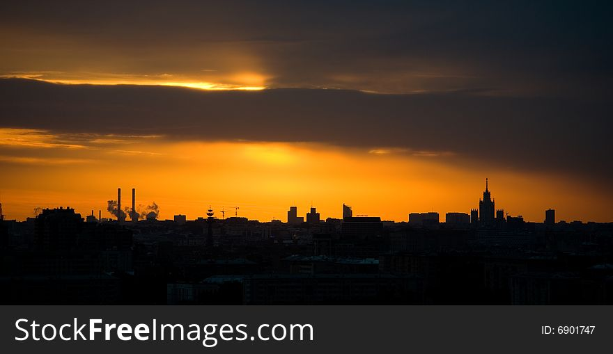 Moscow dawn
