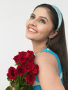 Free Asian Girl With A Bunch Of Roses Stock Photos - 6911403