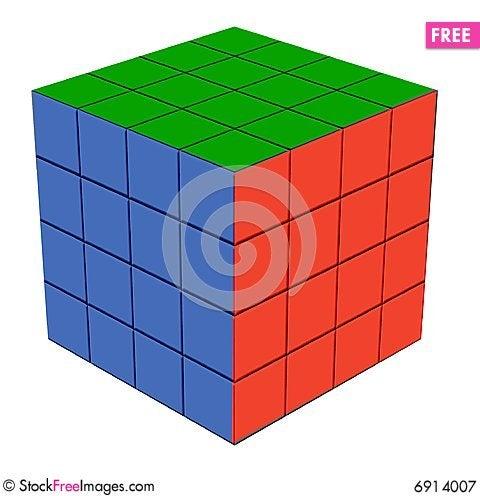 Fun item Quartet cube Stock Photo