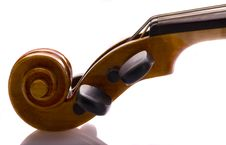 Free Violin Scroll And Peg Box Stock Photography - 6910622