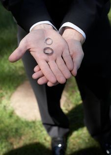Free Wedding Rings In Hand Royalty Free Stock Photo - 6910665