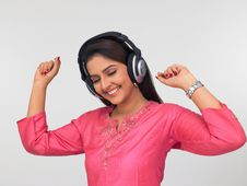 Free Asian Woman With A Headphone Stock Photos - 6911243