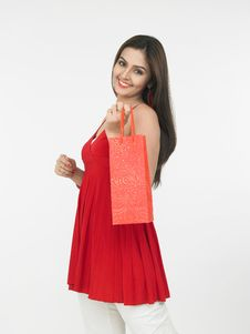 Free Female With A Shopping Bag Royalty Free Stock Photo - 6911385