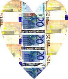 Free Heart Of Euro Banknotes Stock Image - 6911601