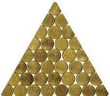 Free Triangle Of Coins Royalty Free Stock Photos - 6911628