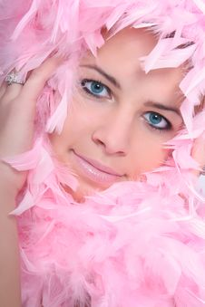 Free Woman With A Pink Boa Stock Photos - 6911743