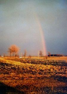 Autumn Rainbow Stock Photo