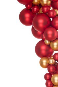 Bunch Of Christmas Balls Stock Photo