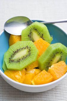Free Dessert Of Kiwi And Orange Royalty Free Stock Photos - 6912688