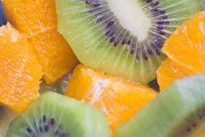 Free Dessert Of Kiwi And Orange Royalty Free Stock Images - 6912779