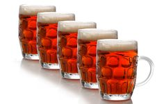 Free Glasses Of Beer Royalty Free Stock Photography - 6912837