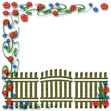 Free Garden Gate Scrapbook Royalty Free Stock Photography - 6912887