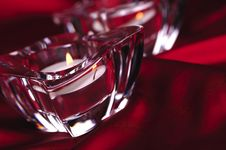 Free Two Candles On Red Royalty Free Stock Photos - 6912908